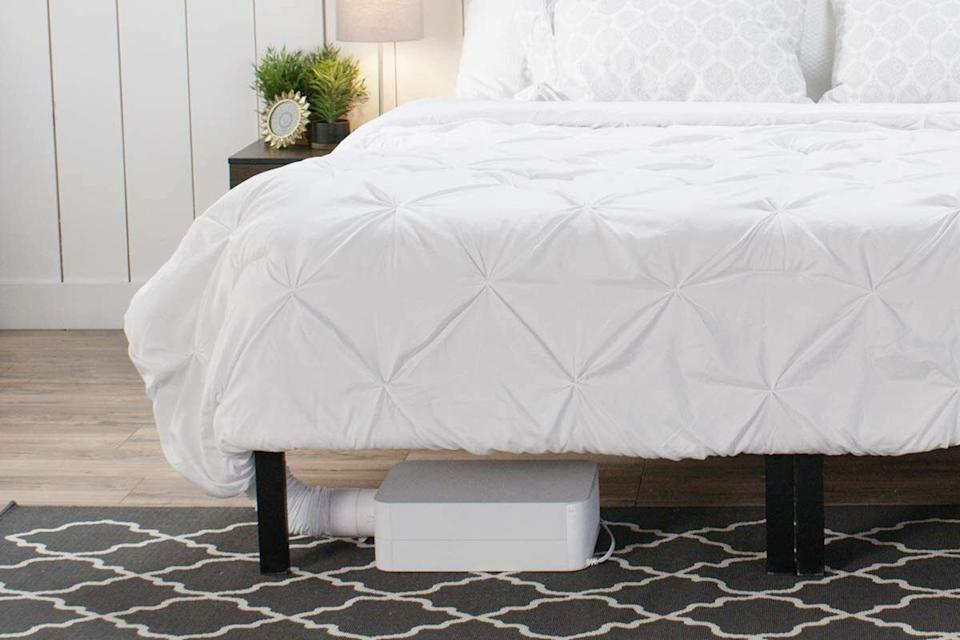 """Itprovides on-demand cooling, warming and sweat drying right in your bed, and works with any size bed or mattress (including adjustable beds). It works via a powered ventilation cooling system, which wicks body heat and moisture out of the bed for the cooling relief you dream about.<br /><br /><strong>Promising review:</strong>""""This is the first time I have ever been moved to write a review on Amazon but this is the single most amazing product if you sleep hot! This thing WORKS and it is saving my life! It only took a NASA Engineer to solve my propensity to burst into to flames every night at 2 a.m.!"""" — <a href=""""https://www.amazon.com/gp/customer-reviews/R2GKGMVTBU2I7I?&linkCode=ll2&tag=huffpost-bfsyndication-20&linkId=d1ead3de74df0190eb74aab05e5ac64a&language=en_US&ref_=as_li_ss_tl"""" target=""""_blank"""" rel=""""noopener noreferrer"""">Matthes</a><br /><br /><strong><a href=""""https://www.amazon.com/BedJet-Cooling-Heating-Climate-Control/dp/B01BMCWJ7G?&linkCode=ll1&tag=huffpost-bfsyndication-20&linkId=901aec0e63e7b633b366dc1f70bcacb9&language=en_US&ref_=as_li_ss_tl"""" target=""""_blank"""" rel=""""noopener noreferrer"""">Get it from Amazon for $499.</a></strong>"""