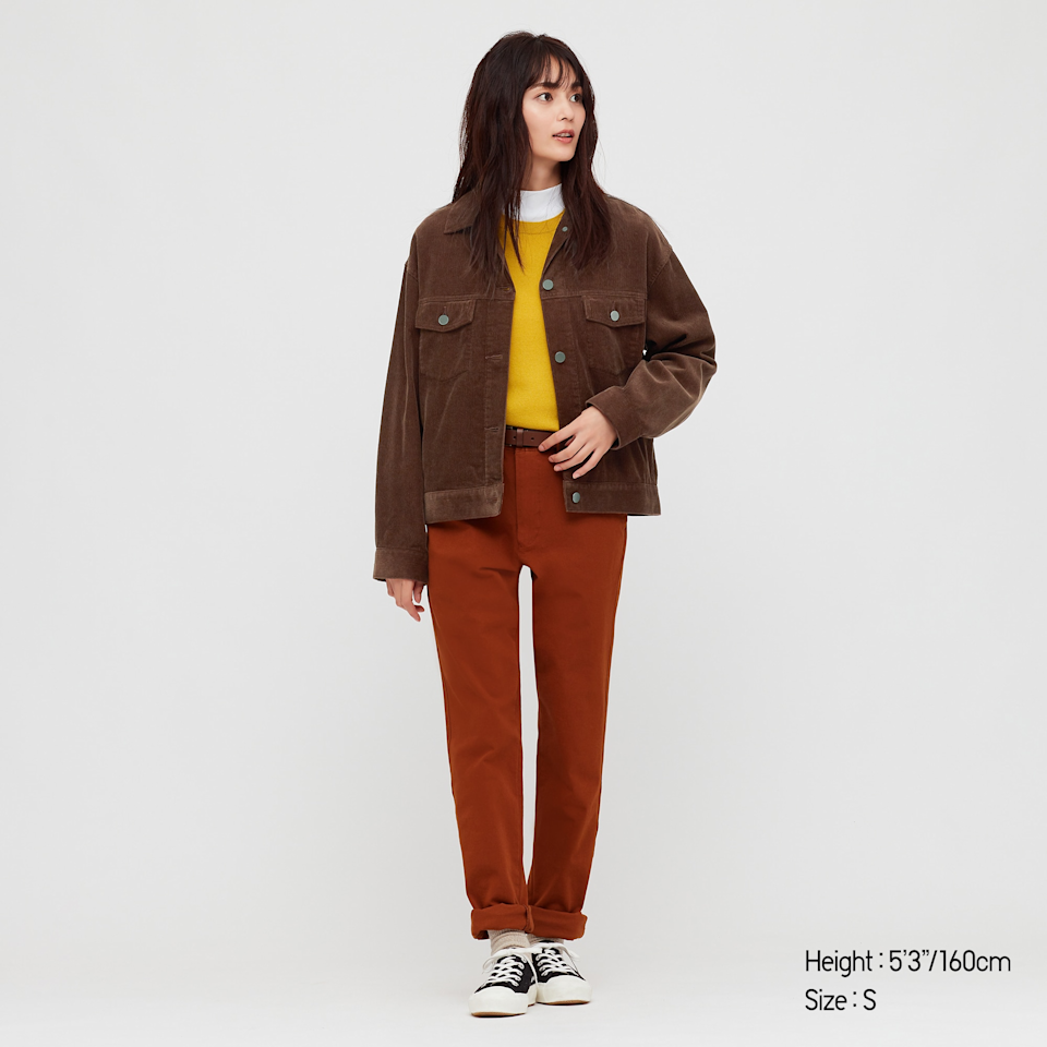 "<br><br><strong>Uniqlo</strong> Corduroy Relaxed Jacket, $, available at <a href=""https://go.skimresources.com/?id=30283X879131&url=https%3A%2F%2Fwww.uniqlo.com%2Fus%2Fen%2Fwomen-corduroy-relaxed-jacket-430425.html"" rel=""nofollow noopener"" target=""_blank"" data-ylk=""slk:Uniqlo"" class=""link rapid-noclick-resp"">Uniqlo</a>"