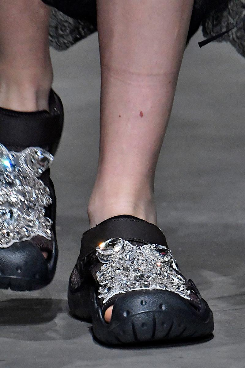 These shoes CLEARLY make a statement.