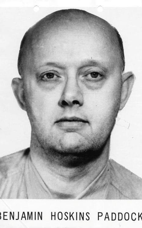 An undated FBI photo of serial bank robber Benjamin Hoskins Paddock, Stephen Paddock's father - Credit: Handout/ REUTERS