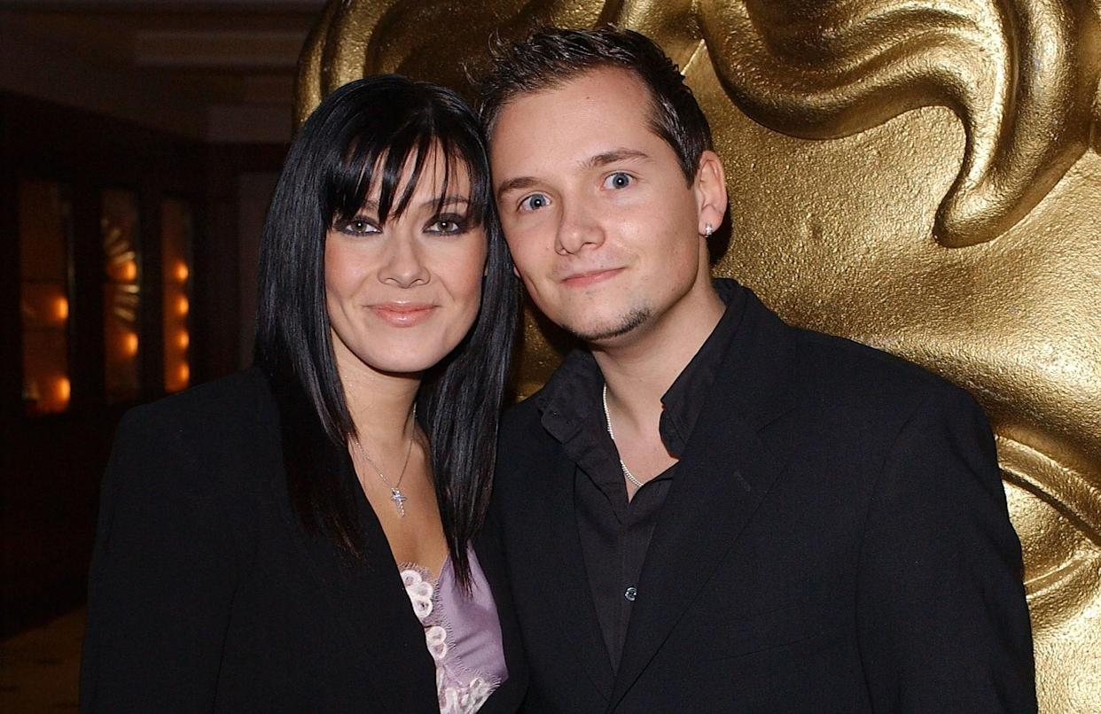 Kym Marsh with first husband Jack Ryder in 2003. (Getty Images)