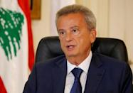 FILE PHOTO: Lebanon's Central Bank Governor Riad Salameh speaks during an interview with Reuters in Beirut