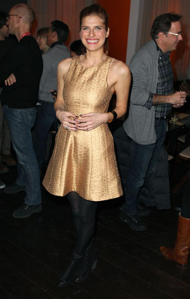 """PARK CITY, UT - JANUARY 20:  Actress Lake Bell attends """"In A World"""" Dinner on January 20, 2013 in Park City, Utah.  (Photo by Joe Scarnici/Getty Images)"""