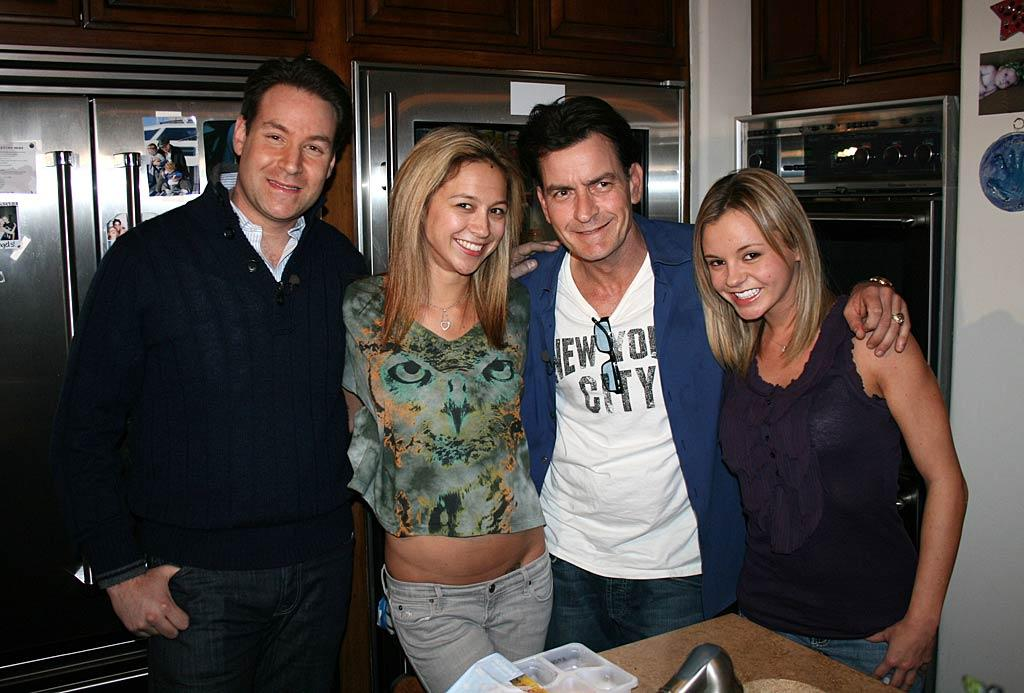 """Charlie Sheen -- who scored a over a million followers during his first 24 hours on Twitter -- introduced NBC's Jeff Rossen (and the world) to his two """"goddesses"""" -- Natalie Kenly and Rachel Oberlin -- during an interview with """"Today"""" in February. The troubled star -- who ended up leaving his hit show """"Two and a Half Men"""" -- was seriously relishing in his moment in the spotlight earlier this year, granting interviews to pretty much any news outlet that asked, which resulted in lots of memorable soundbites. Winning! (2/28/2011)"""