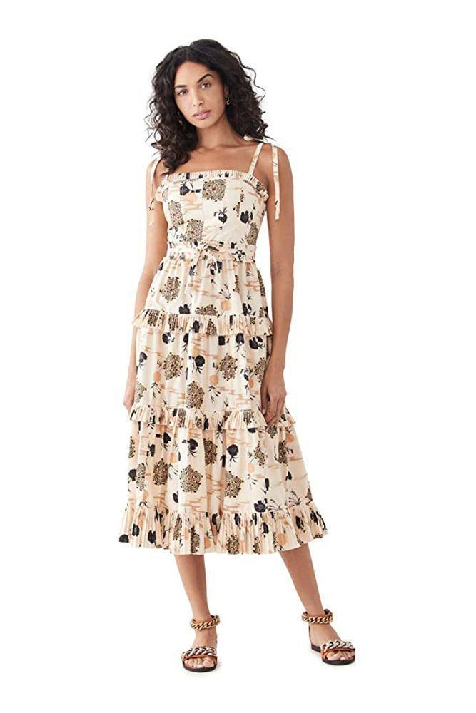 """<p><strong>Ulla Johnson</strong></p><p>amazon.com</p><p><strong>$425.00</strong></p><p><a href=""""https://www.amazon.com/dp/B092DZR9DT?tag=syn-yahoo-20&ascsubtag=%5Bartid%7C10056.g.36301705%5Bsrc%7Cyahoo-us"""" rel=""""nofollow noopener"""" target=""""_blank"""" data-ylk=""""slk:Shop Now"""" class=""""link rapid-noclick-resp"""">Shop Now</a></p><p>""""Every summer deserves a new sundress—for diversions and escapades, romantic and otherwise.""""</p>"""