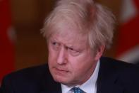 Britain's PM Johnson holds a news conference, in London