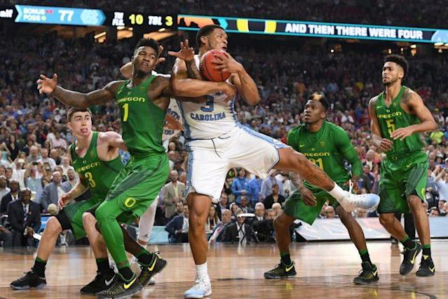 Kennedy Meeks reeled in 14 massive rebounds for North Carolina. (Getty)