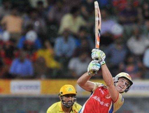 Australian Royal Challengers Bangalore batsman Luke Pomersbach (R) plays a shot during an IPL match in Mumbai in 2011. Indian police said they had arrested Pomersbach for allegedly molesting a woman and beating up her fiance in a posh New Delhi hotel