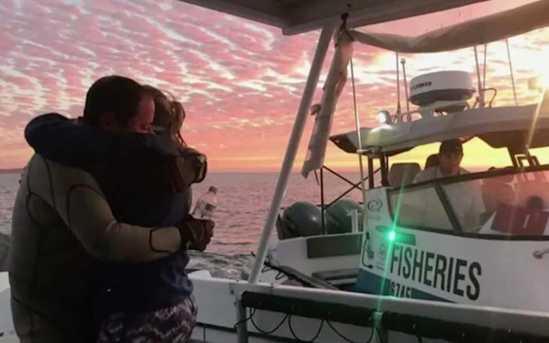 John was reunited with his wife after he was reported missing near Shark Bay - Channel 7