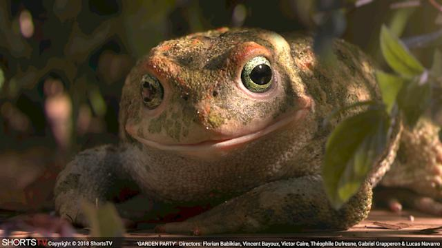 An amazingly lifelike CGI amphibian from <em>Garden Party.</em> (Photo: ShortsHD)