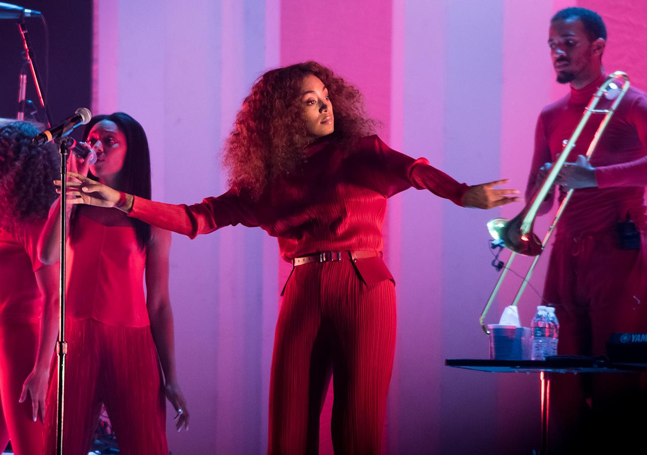 <p>Solange Knowles performs during the 2017 Panorama Music Festival at Randall's Island on July 28, 2017 in New York City. (Photo by Noam Galai/WireImage) </p>