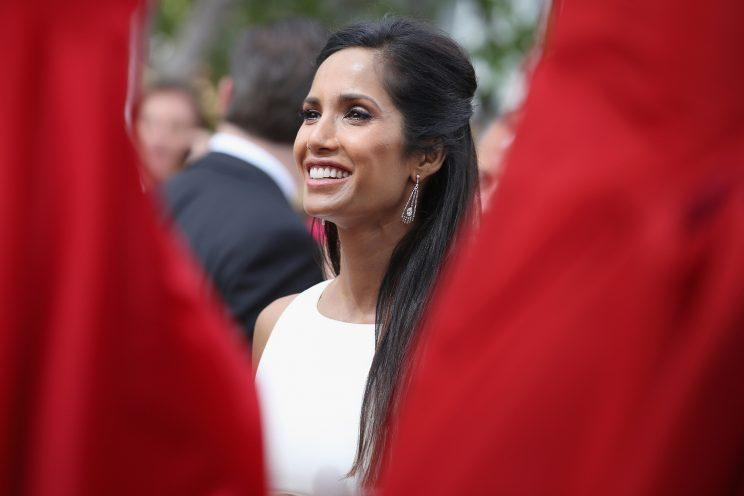 Padma Lakshmi at the 66th Annual Primetime Emmy Awards held at the Nokia Theater on August 25, 2014. (Photo: Getty Images)