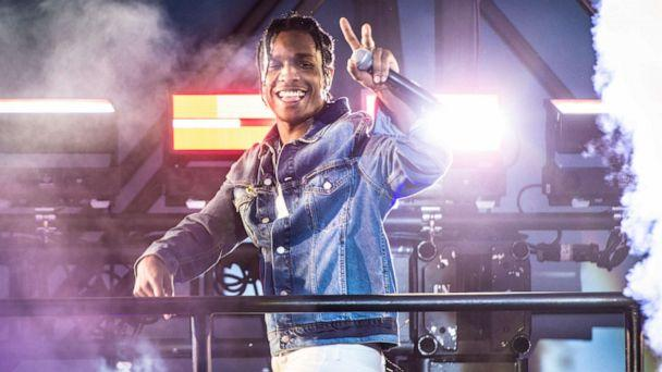 PHOTO: A$AP Rocky performs onstage during a surprise performance for Calvin Klein Jeans X Amazon Fashion Launch NYC Market at Flatiron Plaza on October 5, 2018 in New York City. (Steven Ferdman/Getty Images)