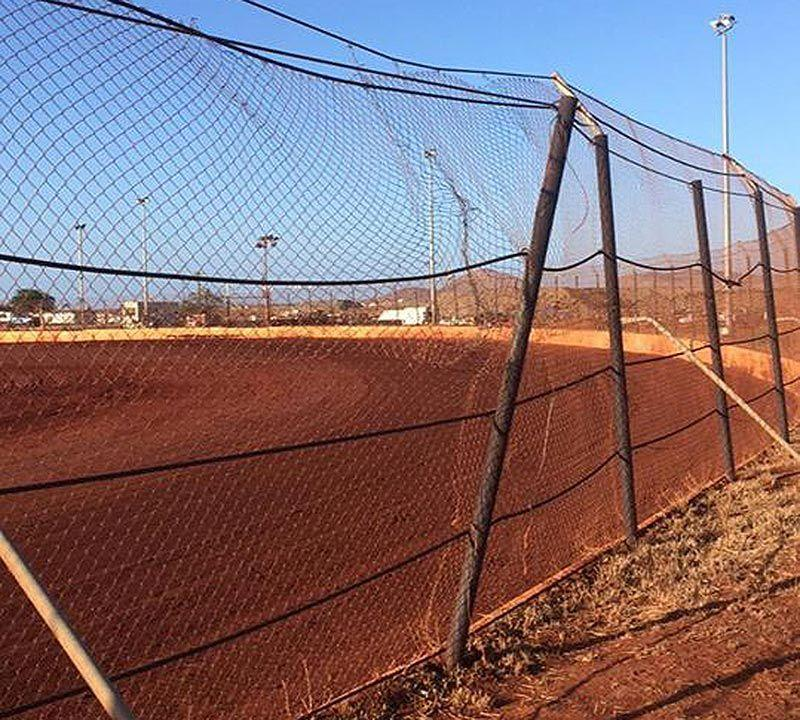 The fence took a beating. Pic: Facebook/JBoy Motorsports