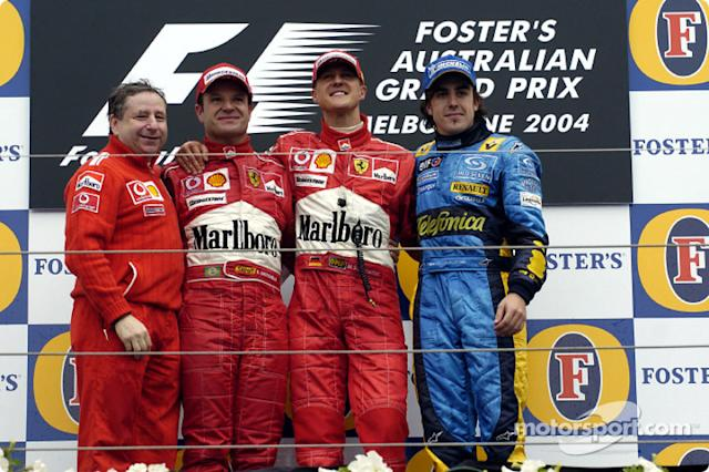 "6- Fernando Alonso, 3º en el GP de Australia 2004 con Renault <span class=""copyright"">Ferrari Media Center</span>"