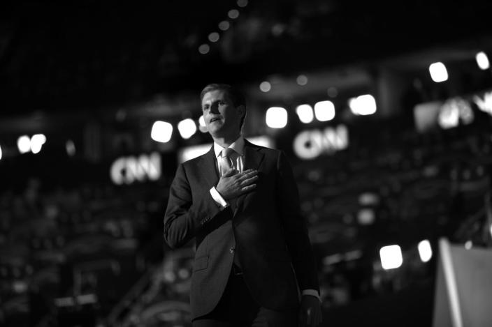 <p>Eric Trump on stage. (Photo: Khue Bui for Yahoo News)</p>