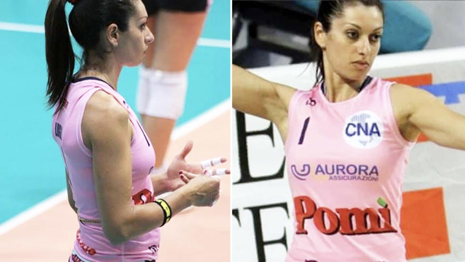 Lara Lugli is being sued by her former club for getting pregnant. Images: Twitter