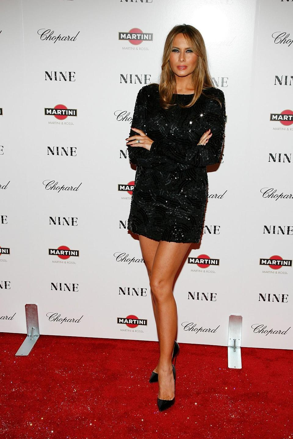 <p>Melanie attended the New York premiere of <i>Nine</i> in an extremely short embellished minidress. <i>[Photo: Getty]</i> </p>