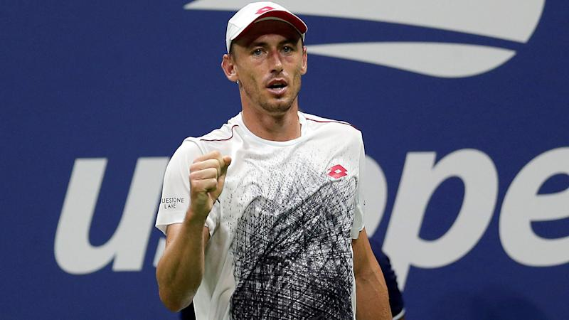 John Millman, pictured here in action at the US Open in 2018.