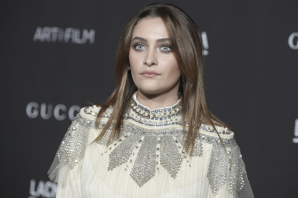 Paris Jackson attends the 2018 LACMA Art+Film Gala at Los Angeles County Museum of Art on Saturday, Nov. 3, 2018, in Los Angeles. (Photo by Richard Shotwell/Invision/AP)