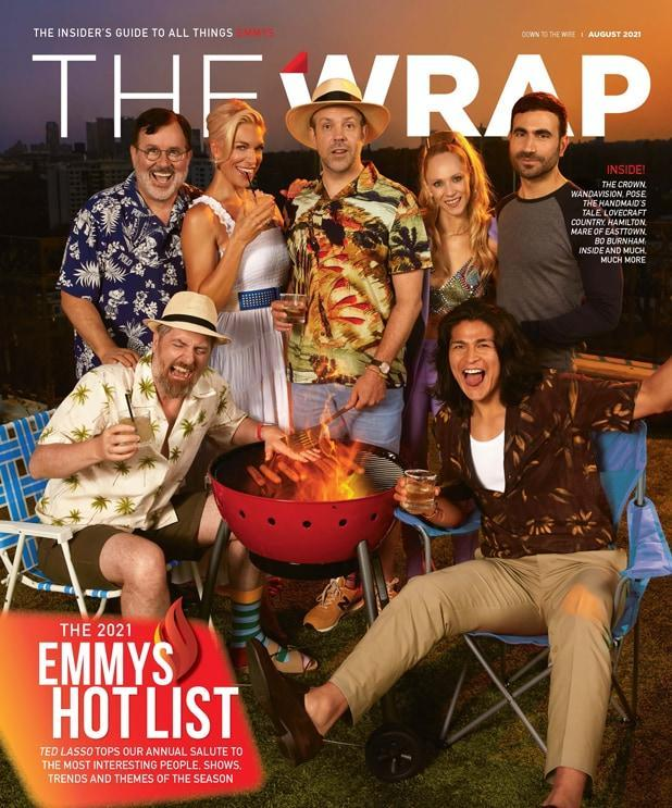 The cast of 'Ted Lasso' on the cover of TheWrap's Emmy magazine