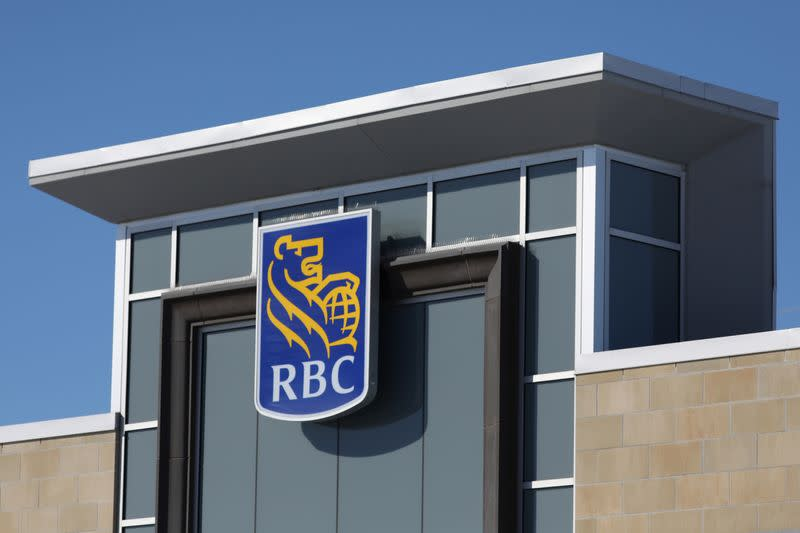 FILE PHOTO: The Royal Bank of Canada logo is seen outside of a branch in Ottawa