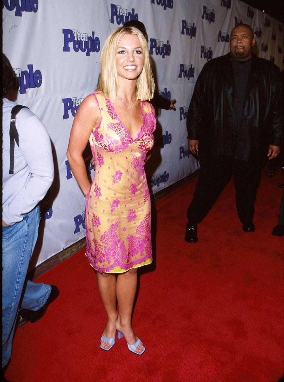 <p>Surprisingly, her square-toe aqua shoes are VERY much in right now. Who would have guessed the trend would make a comeback?</p>