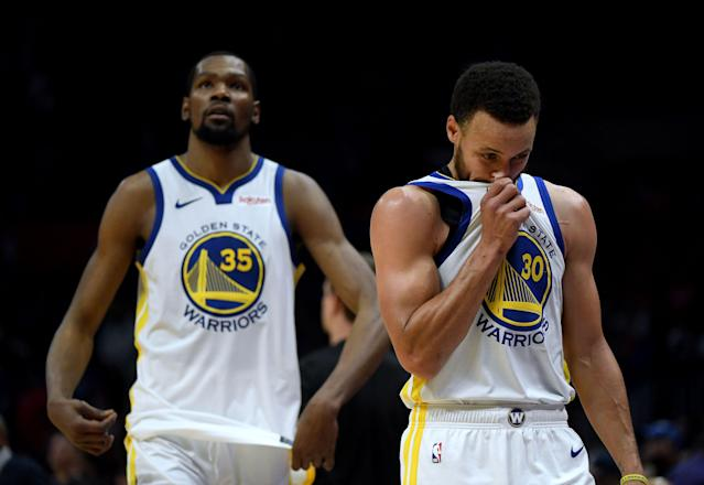 What would the past five years have looked like if Kevin Durant never joined forces with Stephen Curry? (Getty Images)