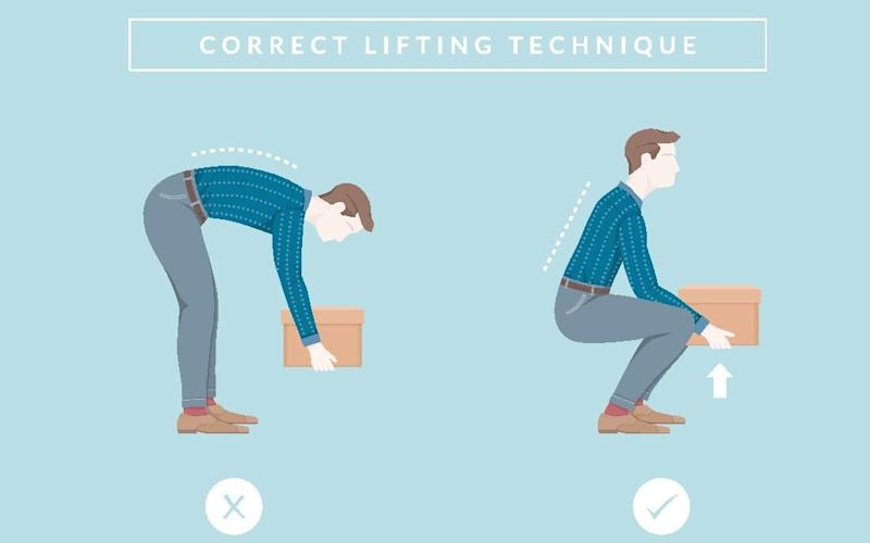 Scientists say that conventional advice to always keep a straight back while lifting may in fact be wrong