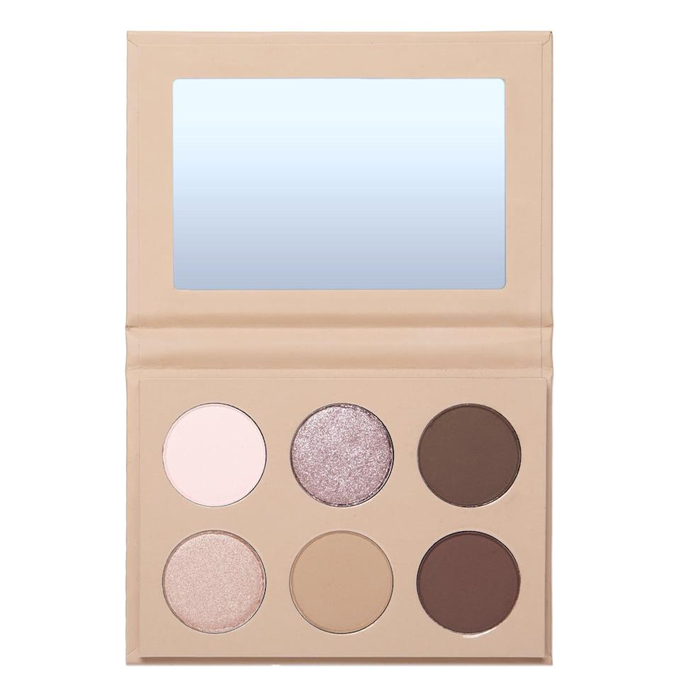 <p>In my selfie, I'm wearing all the shades in this <span>KKW x Allison B.F.F.A.E. Eyeshadow Palette</span> ($30) - I almost never do that. The darker colors seamlessly add definition to my crease without looking harsh. The matte and shimmery cream hues are ideal for highlighting the brow bone and inner corners of the eyes. I love the tan shadow for blending out harsh lines. But the crowning glory of this palette is 143, the lavender shade. I put it across the center of my lid and love the metallic finish. It adds personally without looking kitschy or overly trendy. </p>