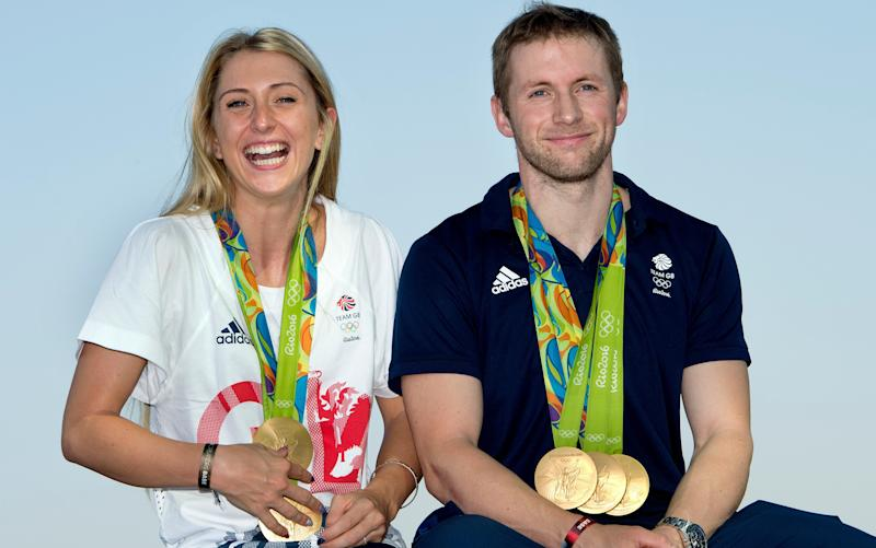 Laura and Jason Kenny -Laura Kenny planning on return to track after giving birth, says British Cycling head coach Iain Dyer - Credit: JULIAN SIMMONDS