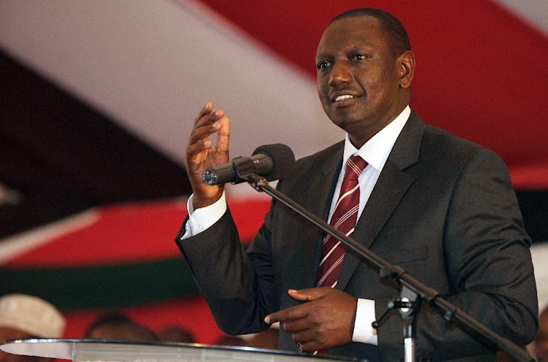 Kenya's deputy president, William Ruto, shown here in 2013, has told worshippers at a church service in Nairobi that homosexuality had no place in the east African nation, reports say (AFP Photo/Simon Maina)