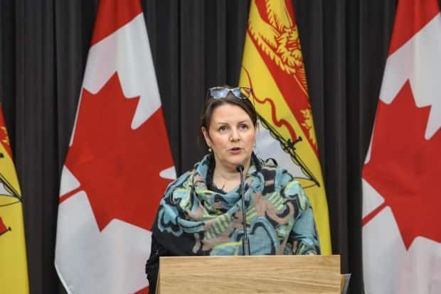 Dr. Jennifer Russell urged all New Brunswickers not to relax their guard in the midst of rapidly transmissible variants, noting that 'what is happening in the Edmundston region' can happen anywhere.
