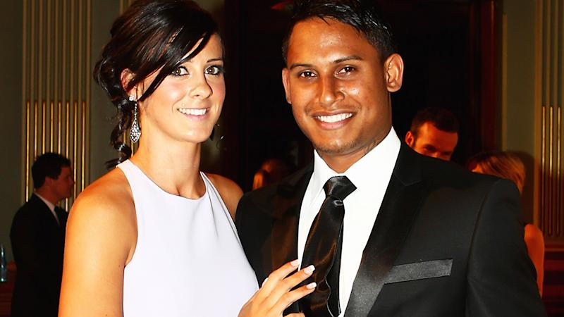 Ainslie Curry and Ben Barba, pictured here at the 2012 NRL Dally M Awards.