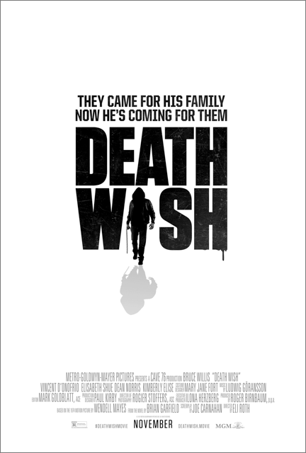 'Death Wish' 2017 remake first poster (Photo: MGM)