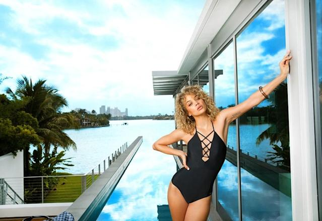 Jasmine Sanders in a new Lascana campaign