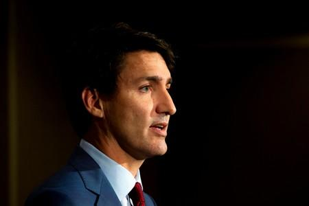 Canada's Prime Minister Justin Trudeau speaks during an election campaign stop in Toronto