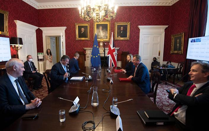 Lord Frost and Maros Sefcovic meet today - Getty