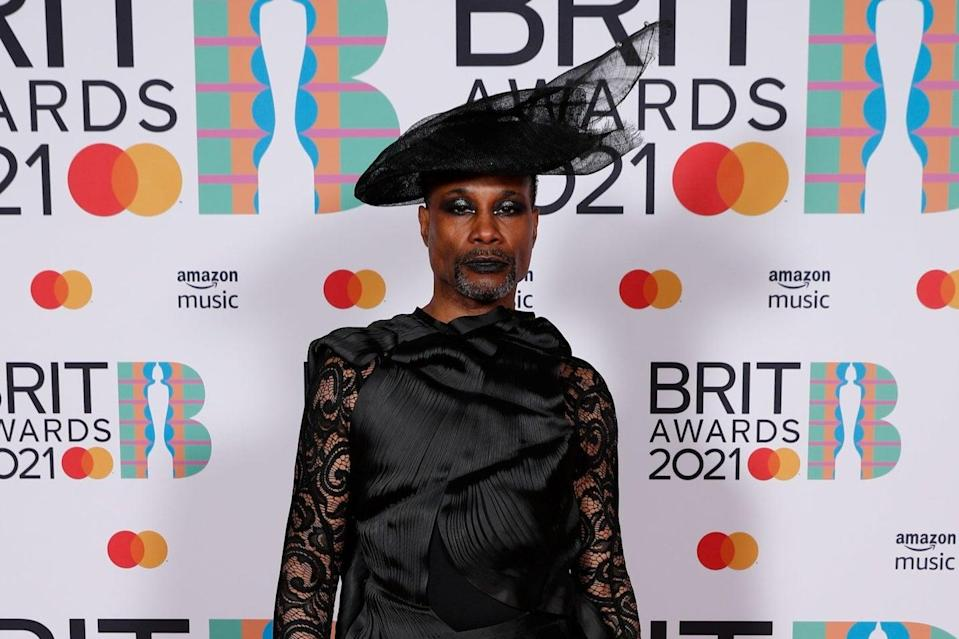 <p>Billy Porter at the Brit Awards</p> (PA)