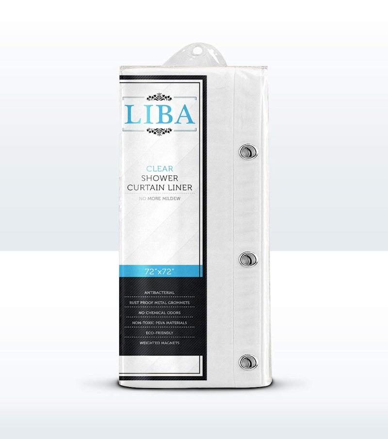 Liba Mildew Resistant Antibacterial PEVA Shower Liner (Photo: Amazon)