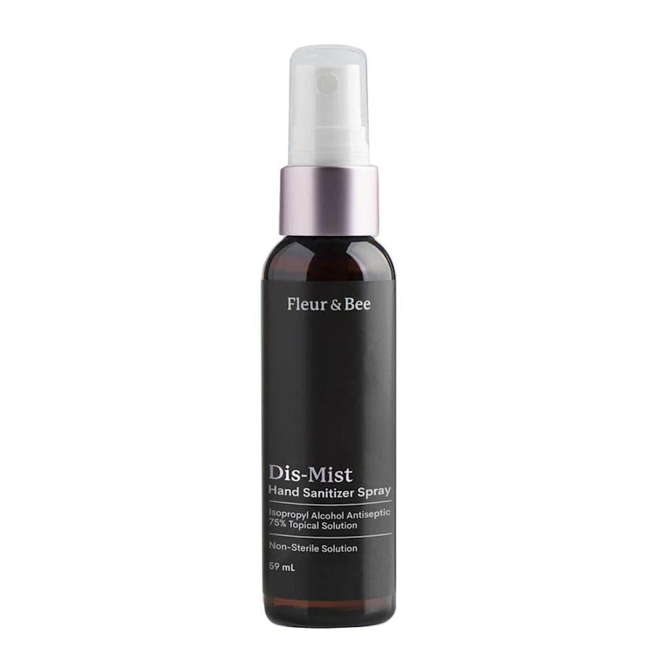 """<p><strong>Fleur & Bee</strong></p><p>fleurandbee.com</p><p><strong>$12.00</strong></p><p><a href=""""https://fleurandbee.com/products/hand-sanitizer-spray"""" rel=""""nofollow noopener"""" target=""""_blank"""" data-ylk=""""slk:Shop Now"""" class=""""link rapid-noclick-resp"""">Shop Now</a></p><p>Take no chances with this power-packed hand sanitizer spray from Fleur & Bee that contains 75% isopropyl alcohol for bacteria-busting protection. </p><p>Even though it does have a high alcohol content, it's also packed with moisture-preserving glycerin to keep hands from drying out — even after multiple applications.</p>"""