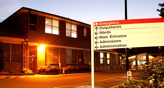 Ryde Hospital is pictured.