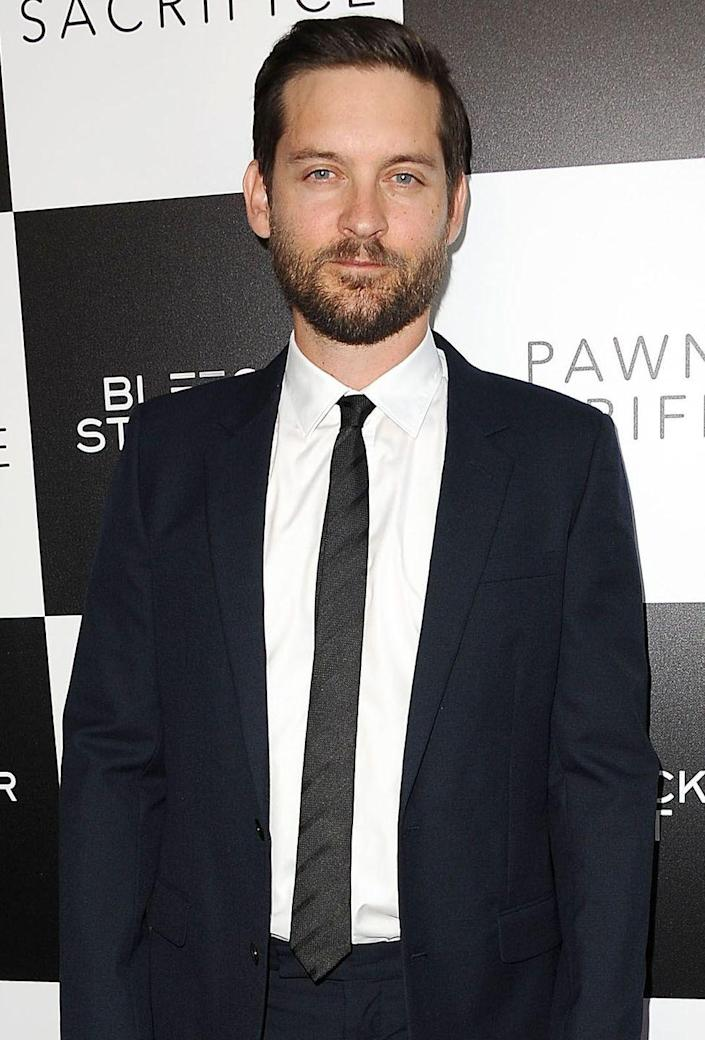 """<p>The <em>Spiderman</em> star has been open about his sobriety in many interviews, telling <a href=""""https://www.theguardian.com/film/2013/may/11/tobey-maguire-interview"""" rel=""""nofollow noopener"""" target=""""_blank"""" data-ylk=""""slk:The Guardian"""" class=""""link rapid-noclick-resp""""><em>The Guardian</em></a>, """"I stopped consuming any mind-altering substances when I was 19 years old. And I've been abstinent since then.""""</p>"""
