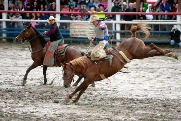 The North Thompson Fall Fair and Rodeo in Barriere, B.C. has been cancelled for the second year in a row.  (Mikael Kjellstrom/North Thompson Fall Fair and Rodeo Facebook page - image credit)
