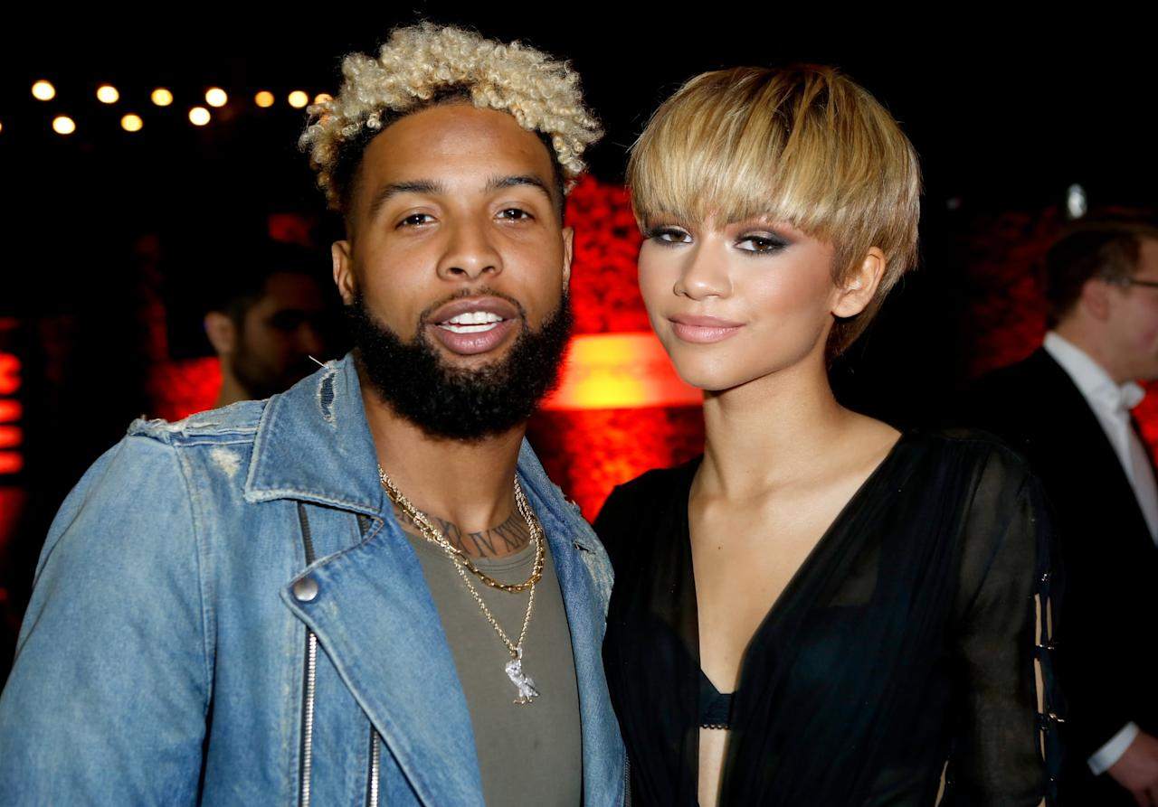 """<p>Back in 2016, Zendaya was rumored to be dating NFL player <a href=""""https://www.popsugar.com/latest/Odell-Beckham-Jr."""" class=""""ga-track"""" data-ga-category=""""Related"""" data-ga-label=""""http://www.popsugar.com/latest/Odell-Beckham-Jr."""" data-ga-action=""""In-Line Links"""">Odell Beckham Jr.</a> after the two were spotted leaving a Grammys afterparty together. TMZ <a href=""""http://www.tmz.com/2016/02/16/zendaya-and-odell-beckham-jr-audition-dating/"""" target=""""_blank"""" class=""""ga-track"""" data-ga-category=""""Related"""" data-ga-label=""""http://www.tmz.com/2016/02/16/zendaya-and-odell-beckham-jr-audition-dating/"""" data-ga-action=""""In-Line Links"""">obtained footage of the two leaving</a> and when reporters asked if they were dating, Zendaya's dad quickly jumped in and stated, """"It's an audition!"""" What that means exactly isn't clear but perhaps the blooming relationship still needed approval from Zendaya's father?</p>"""