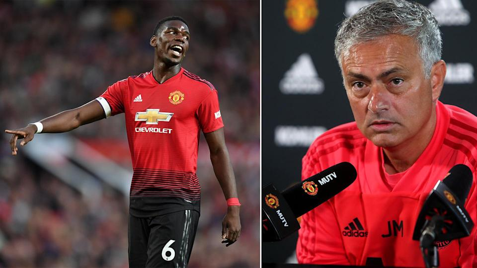 Jose Mourinho is very happy with Paul Pogba despite reports of a rift.
