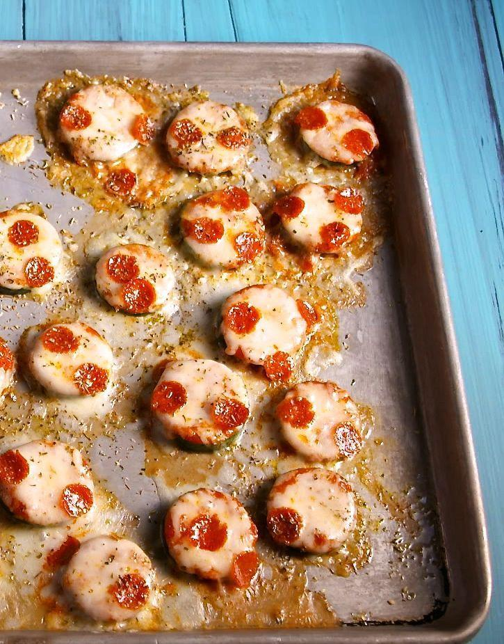 """<p>Topped with sauce, mozz, and mini pepperonis, zucchini makes a surprisingly adorable base for pizza.<br></p><p>Get the recipe from <a href=""""https://www.delish.com/cooking/recipe-ideas/recipes/a43638/mini-zucchini-pizzas-recipe/"""" rel=""""nofollow noopener"""" target=""""_blank"""" data-ylk=""""slk:Delish"""" class=""""link rapid-noclick-resp"""">Delish</a>.</p>"""