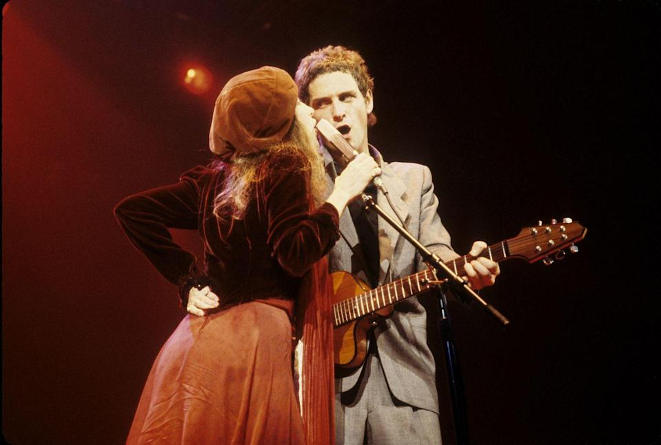 """<p>Of course, Stevie Nicks had her own take on her breakup with Lindsey Buckingham. Speaking to <a href=""""https://www.919thebend.ca/2019/06/18/video-throwback-fleetwood-mac-dreams/"""" rel=""""nofollow noopener"""" target=""""_blank"""" data-ylk=""""slk:Q magazine"""" class=""""link rapid-noclick-resp""""><em>Q </em>magazine</a>, she later said, """"It was the fairy and the gnome. I was trying to be all philosophical. And he was just mad.""""</p>"""