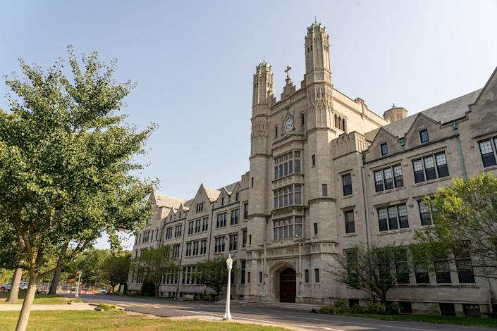 The Liberal Arts building on the Marygrove Conservancy campus in Detroit on Thursday, September 24, 2020.