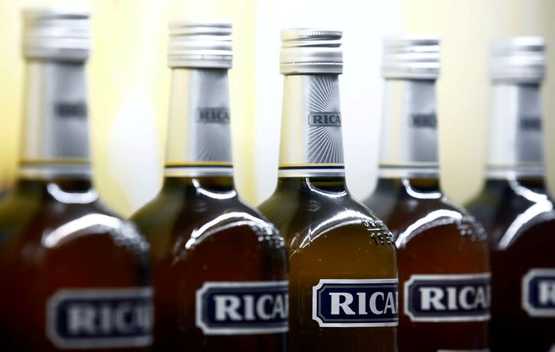 FILE PHOTO: Bottles of the Ricard aniseed-flavoured alcoholic drink